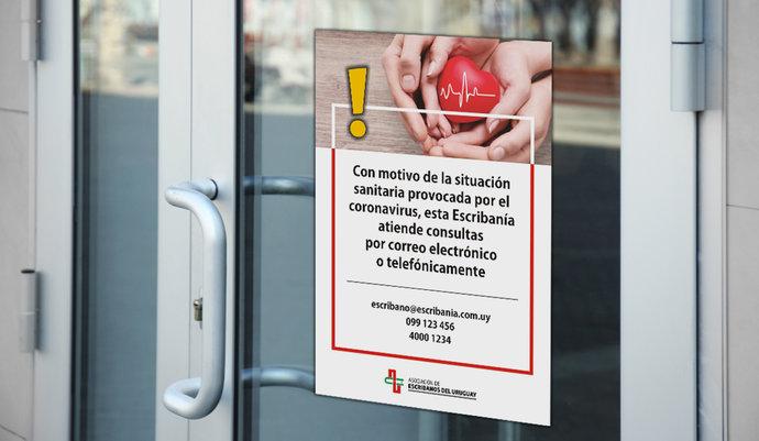 imagen de Afiche para las Escribanías por la situación sanitaria